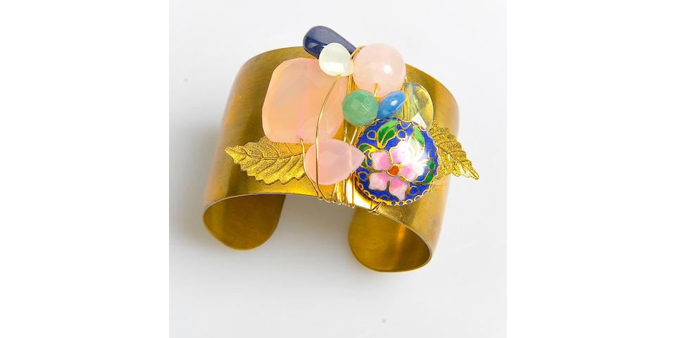 Miley Cyrus Robyn Rhodes Brass Cuff Bracelet