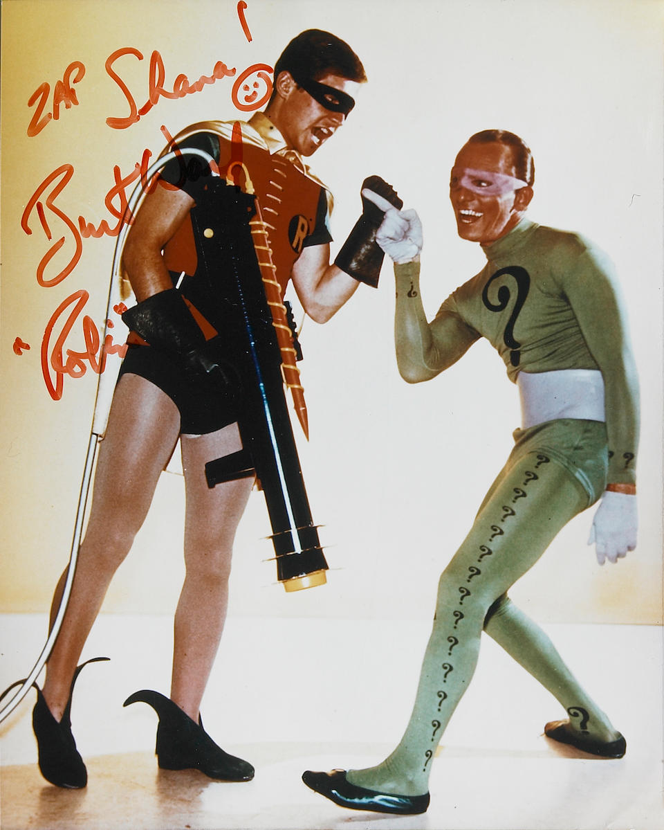 "A Burt Ward signed 'Bat-zooka' from ""Batman"""