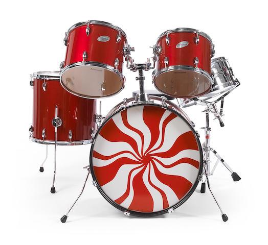 Bonhams : A Meg White drum set used in The White Stripes ...