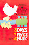 An original Woodstock poster obtained from and signed by the artist who created it, Arnold Skolnick