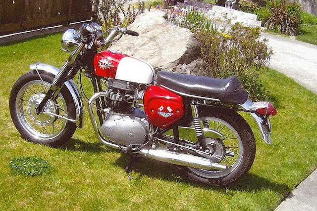 1967 BSA 654cc A65 Spitfire MkII Frame no. A65SA17902 Engine no. A655H11506