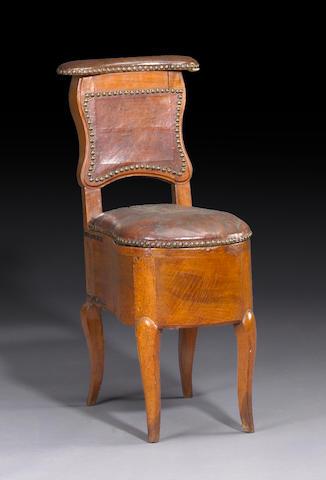 A Louis XV walnut bidet chair