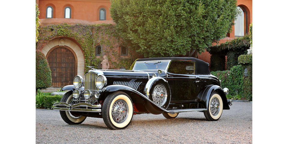 The ex-William Boyd 'Hopalong Cassidy',1933 Duesenberg Model J Victoria  Engine no. J384