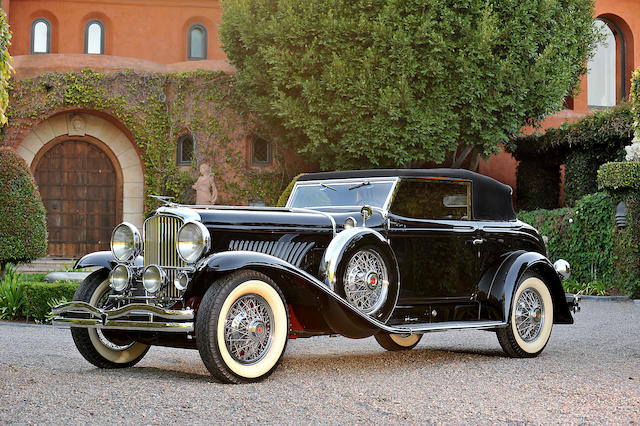 "The ex-William Boyd ""Hopalong Cassidy"", unique coachwork,1933 Duesenberg Model J Torpedo Convertible Victoria  Chassis no. 2535 Engine no. J384"