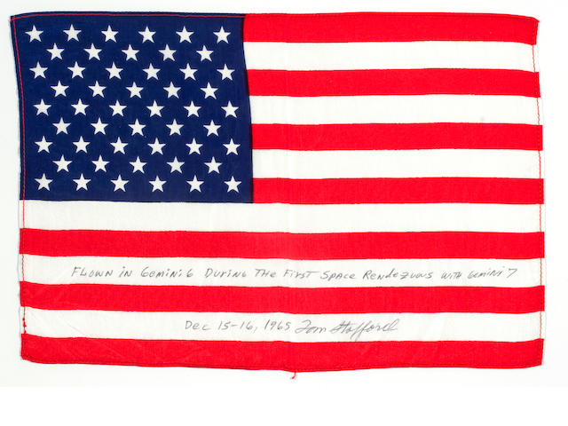 FLOWN UNITED STATES FLAG Carried on GEMINI 6 (Stafford Collection)