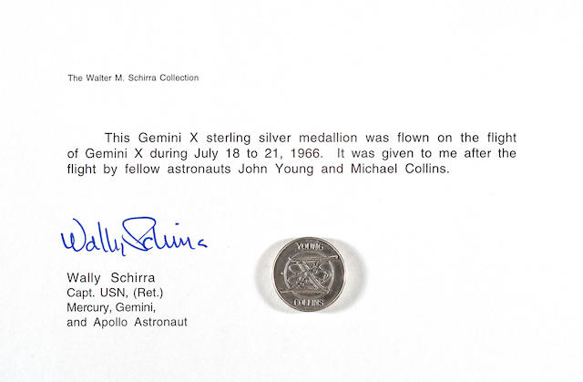 MEDALLION CARRIED ON GEMINI 10.