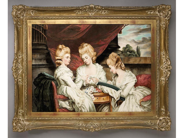 An English earthenware plaque: The Ladies Waldegrave