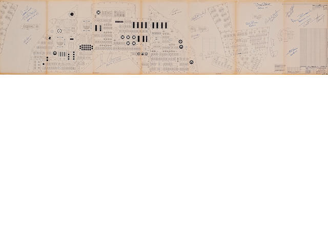 Blueprint - APOLLO 8 COMMAND MODULE CONTROL PANEL