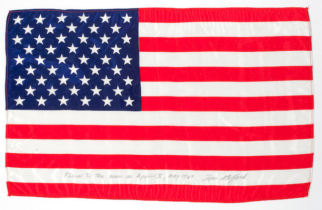 FLOWN Apollo 10 Large United States Flag