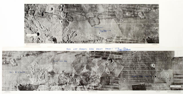 THE PATH OF THE FIRST LUNAR LANDING.
