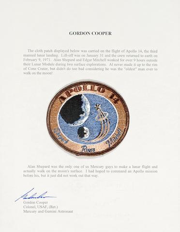 FLOWN Apollo 14 Cloth Crew Emblem (Cooper Collection)