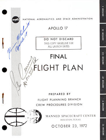 APOLLO 17 FINAL FLIGHT PLAN.