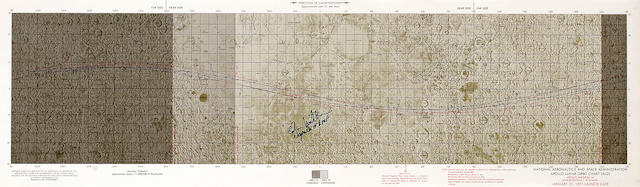 APOLLO 14 LUNAR CHARTS,  2, each Mitchell Signed