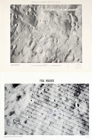 THE APOLLO 14 LANDING AREA,  2, each Mitchell Signed