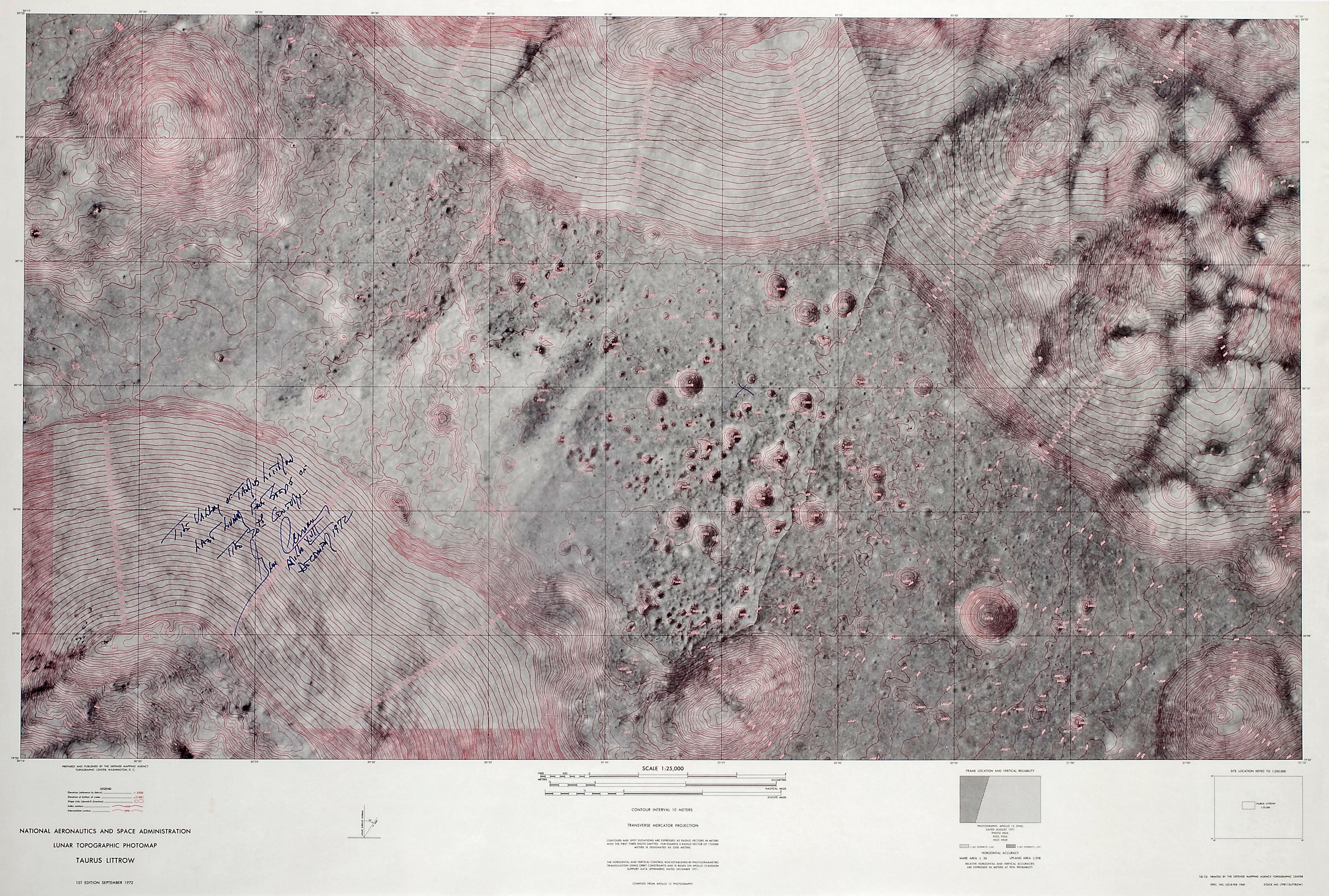 THE APOLLO 17 LANDING SITE—THE LAST LUNAR LANDING OF THE APOLLO PROGRAM.