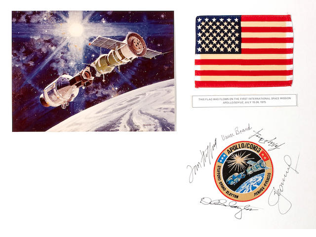 FLOWN UNITED STATES FLAG FROM ASTP