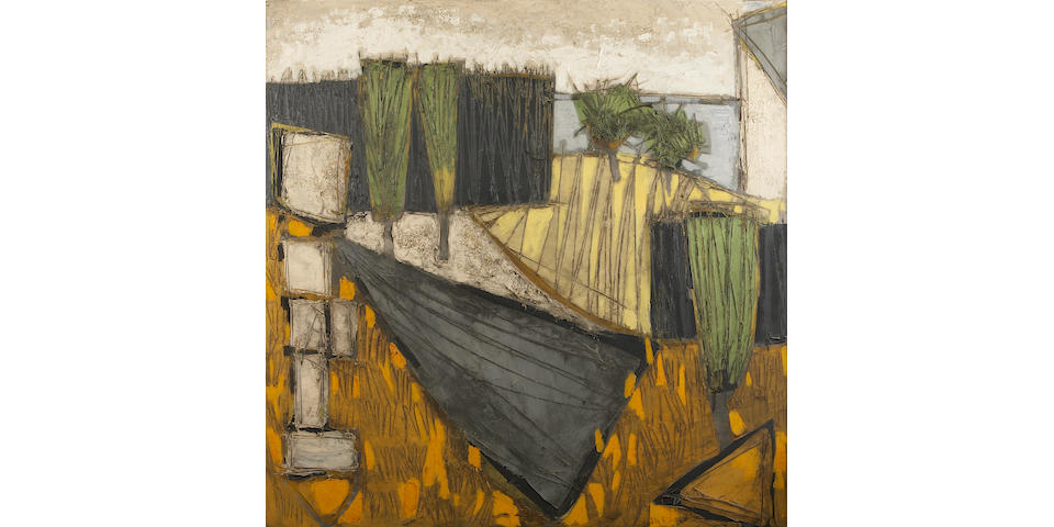 Claude Vénard (French, 1913-1987) Untitled (Mediterranean landscape) 39 1/2 x 39 1/2in