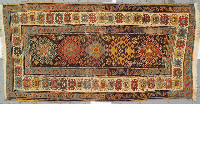 A South Caucasian rug Caucasus, size approximately 4ft. 4in. x 8ft. 1in.