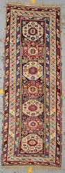 A Kuba rug Caucasus, size approximately 3ft. 5in. x 9ft. 3in.