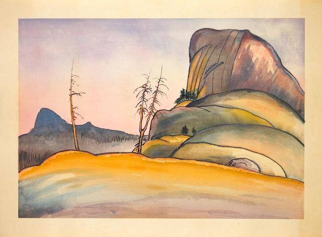 Chiura Obata (1885-1975)<br>Four modern prints