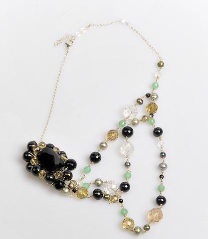 Hilary Duff Robyn Rhodes Gemstone Necklace