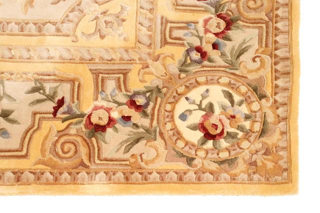 A Chinese chain stitch carpet