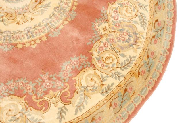 A round Indo Kerman carpet