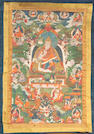 A Tibetan thangka of a  lama 19th Century
