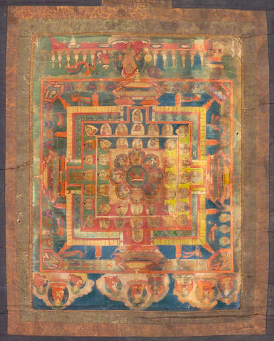 Two Tibetan thangka 19th Century