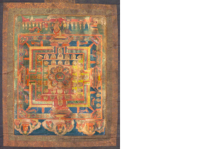 Two Tibetan Mandala Thanka