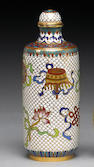 A cloisonné enamel-decorated snuff bottle  Qianlong Mark