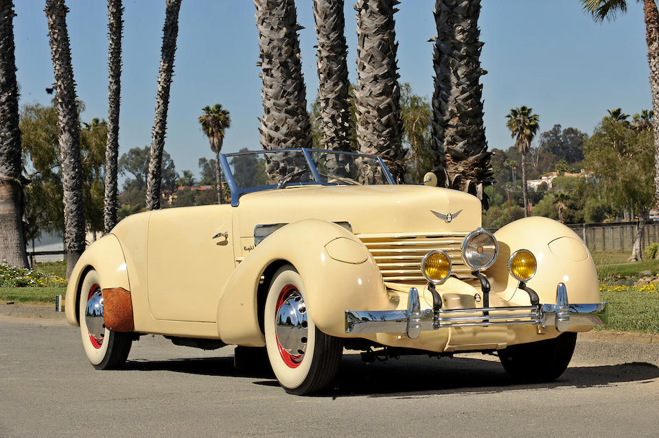 The ex-Tom Mix,1937 Cord 812 Supercharged Phaeton  Chassis no. FC2634