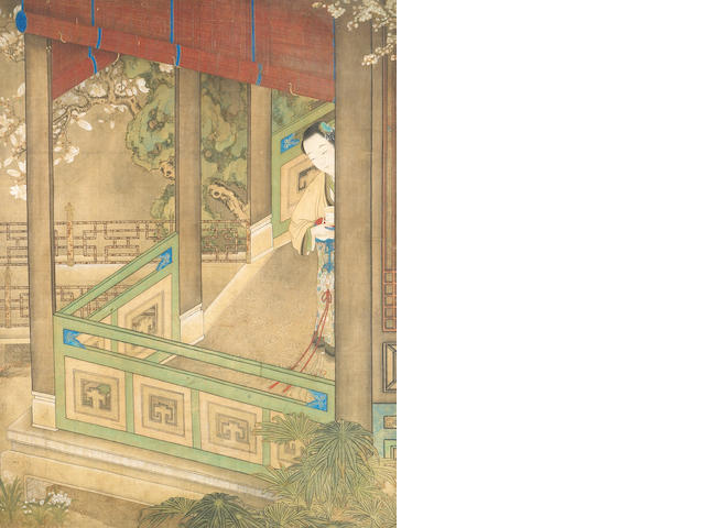 "Attributed to Gu Jianlong (1606-after 1687): ""Dining Room"""