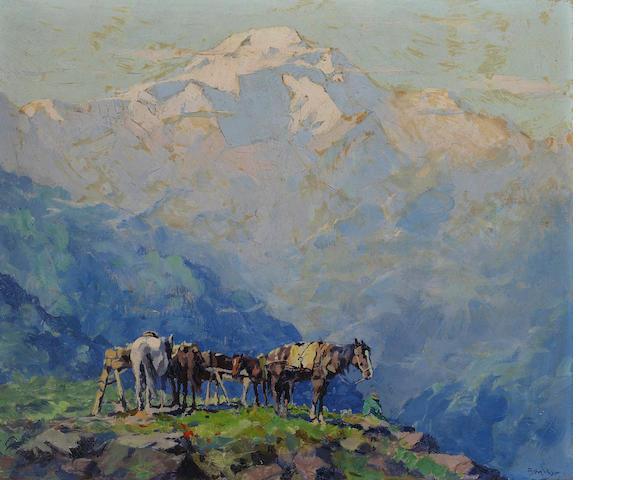 Eustace Paul Ziegler (American, 1881-1969) Mt. McKinley (Denali - House of the Sun) 10 x 12in