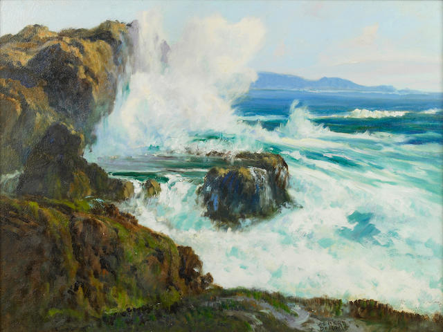 Albert Thomas DeRome (American, 1885-1959) Pt. Lobos, South Shore, Sandhill Cove, 1945 18 x 24in
