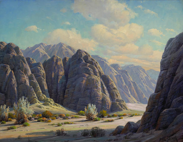 Paul Grimm (1891-1974) 'Etchings of the elements, Box Canyon' 28 x 36in