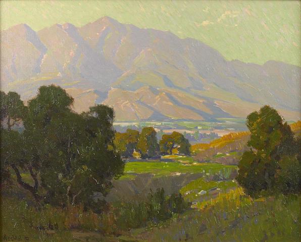 Elmer Wachtel (American, 1864-1929) Sunlit Valley