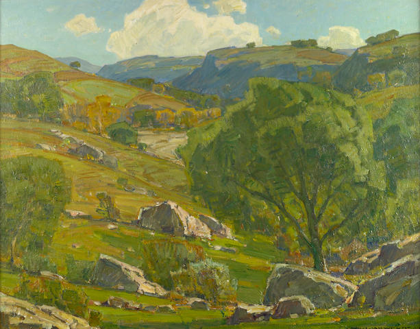 William Wendt (American, 1865-1946) 'Far from the Maddening Crowd', 1930 28 x 36in