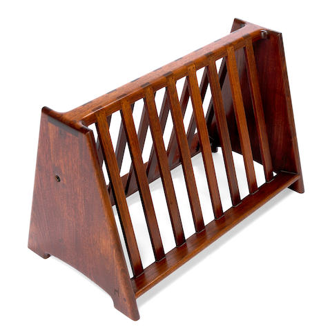 John Nyquist walnut magazine rack