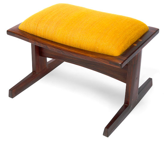 John Nyquist Indian rosewood ottoman