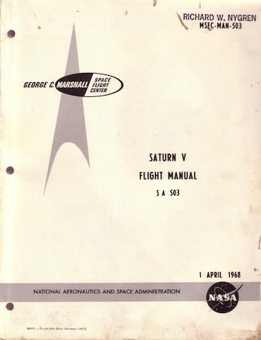 APOLLO 8 SATURN V FLIGHT MANUAL.