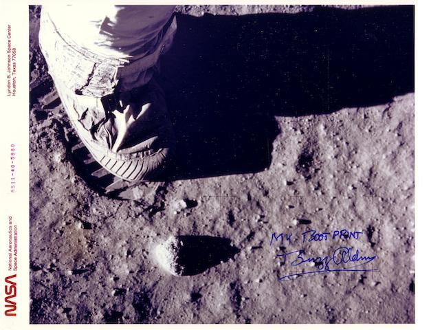 FOOTPRINT ON THE MOON.