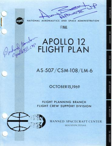 FLIGHT PLAN FOR THE SECOND LUNAR LANDING.