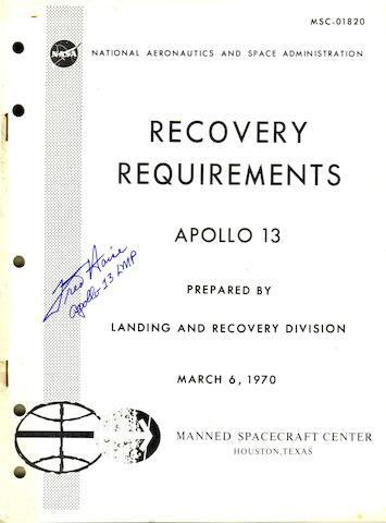 APOLLO 13 RECOVERY.