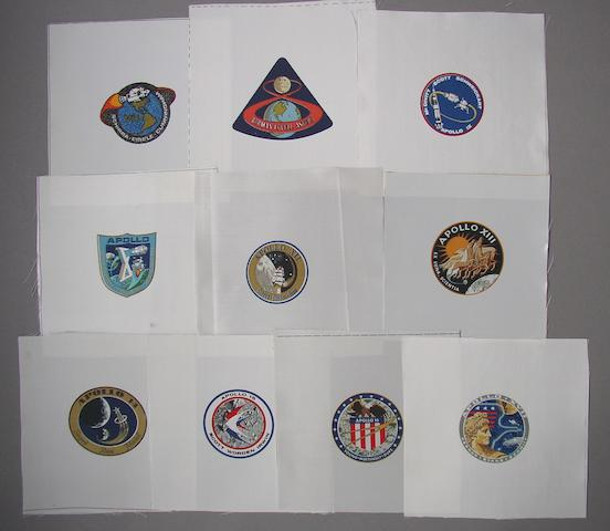 APOLLO CREW EMBLEMS.