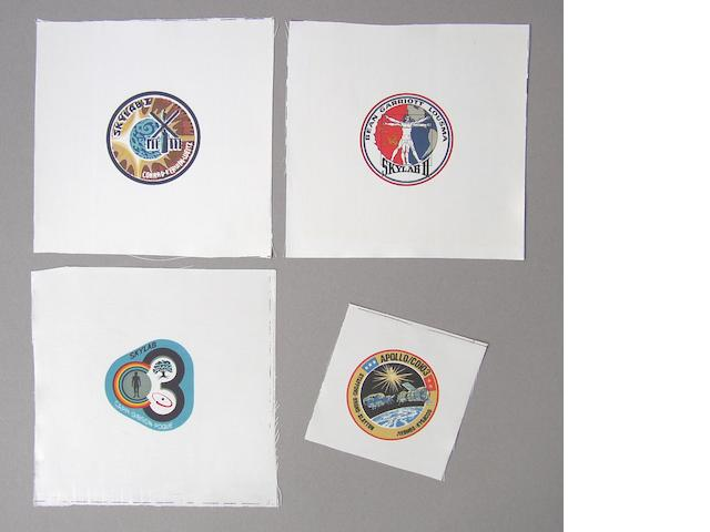 SKYLAB AND ASTP CREW EMBLEMS.
