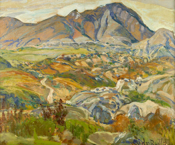 Charles Reiffel (American, 1862-1942) 'In the Mountains, Baja, California' 20 x 24in