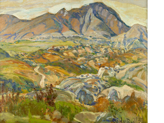 Charles Reiffel (American, 1862-1942) In the Mountains, Baja, California 20 x 24in