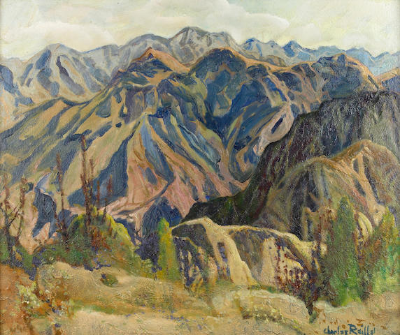 Charles Reiffel (American, 1862-1942) Mountain Barrier 20 x 24in