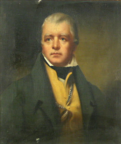 After Sir Henry Raeburn, RA A portrait of Sir Walter Scott 15 x 13in